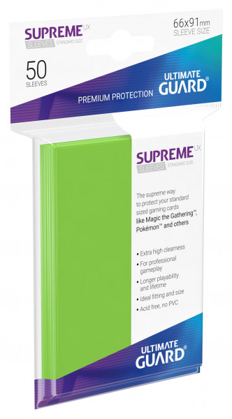 Supreme Sleeves Standard Size Slim UX Light Green (50)