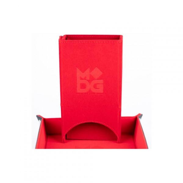 Fold Up Velvet Dice Tower Red