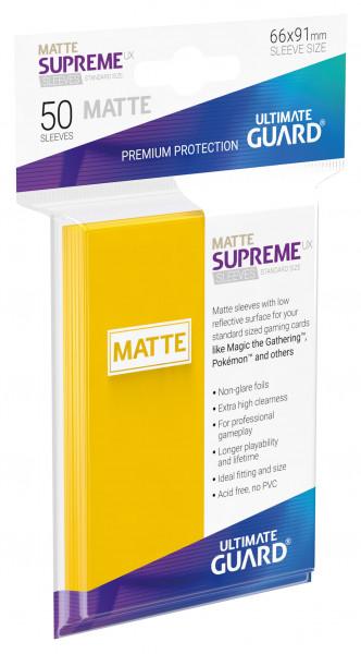 Supreme Sleeves Standard Size Slim Matt UX Yellow (50)