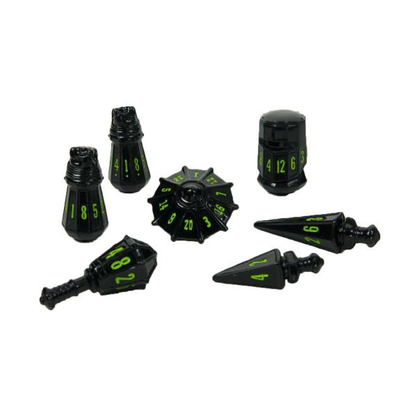 PolyHero Warrior Set - Black with Goblin Green