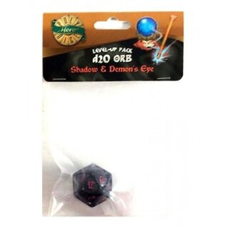PolyHero 1d20 Orb - Shadow with Demons Eye