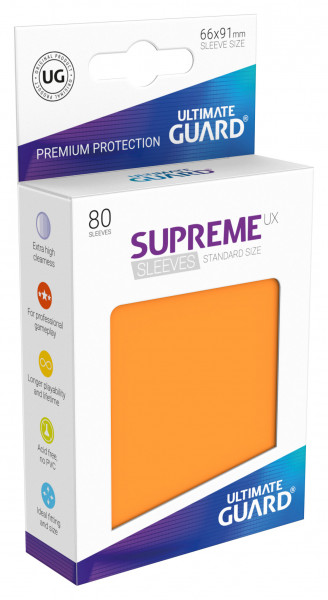 Supreme Sleeves Standard Size UX Orange (80)