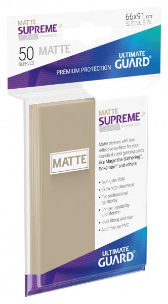 Supreme Sleeves Standard Size Slim Matt UX Sand (50)