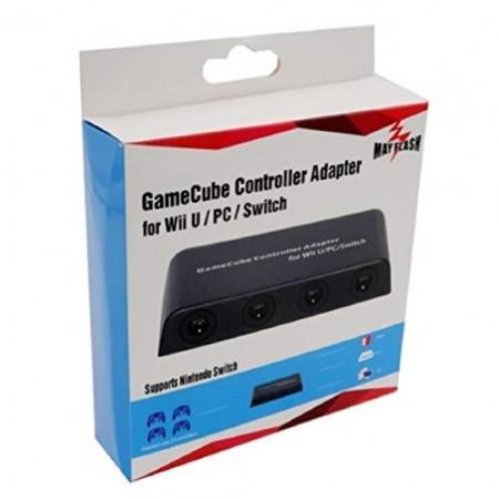 Gamecube Controller Adapter für Nintendo Wii U und PC USB mit 4 Slots