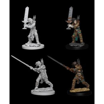 Pathfinder Deep Cuts Unpainted Miniatures: W6 Female Human Barbarian