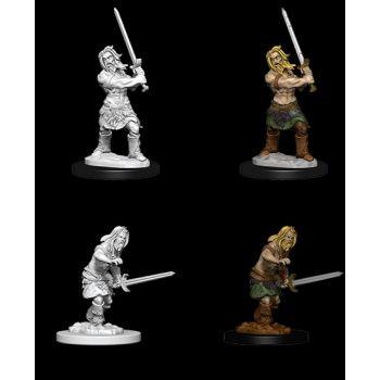 Pathfinder Deep Cuts Unpainted Miniatures: W6 Male Human Barbarian