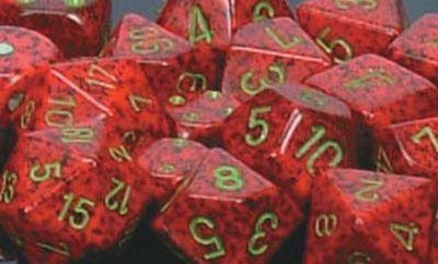 Strawberry Speckled Polyhedral 7-Die Sets