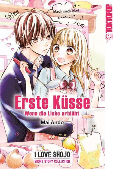 Erste Küsse, wenn die Liebe erblüht