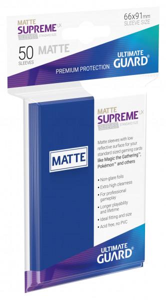 Supreme Sleeves Standard Size Slim Matt UX Blue (50)