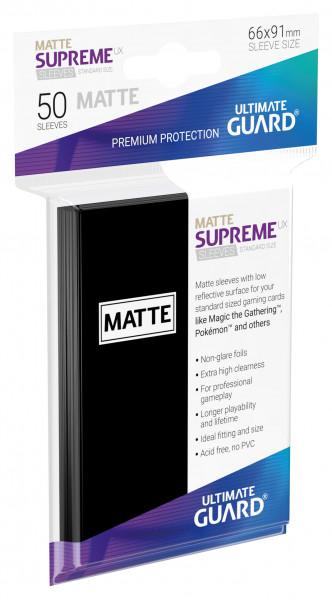 Supreme Sleeves Standard Size Slim Matt UX Black (50)