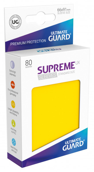 Supreme Sleeves Standard Size UX Yellow (80)
