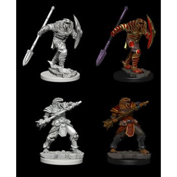 Dungeons & Dragons Nolzur`s Marvelous Unpainted Miniatures: W5 Dragonborn Fighter with Spear