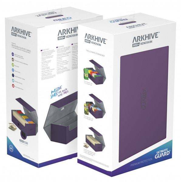 Ultimate Guard Arkhive™ 800+ Standard Size XenoSkin™ Purple