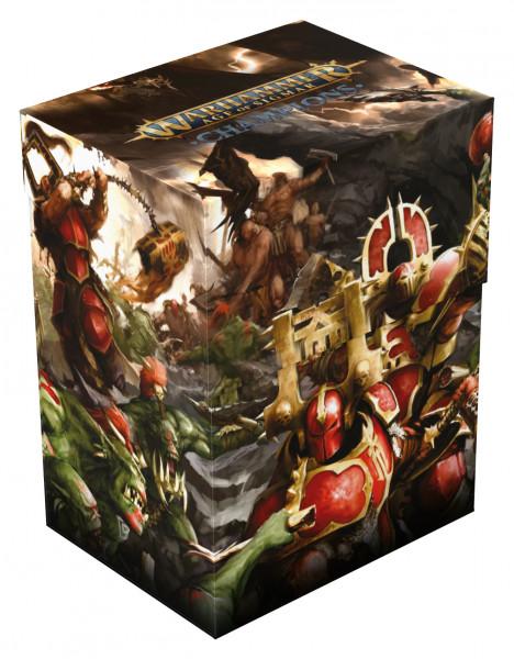 Warhammer Age of Sigmar: Champions Basic Deck Case 80+ Standardgröße Chaos vs. Destruction