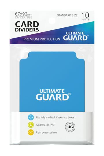 Card Dividers Standard Size Light Blue