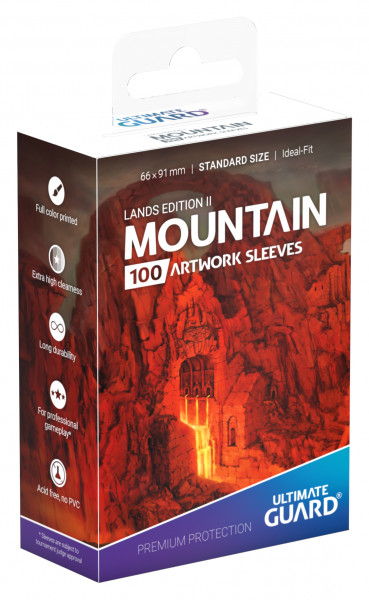 Supreme Sleeves Standard Size Lands Edition Mountain 2 (100)