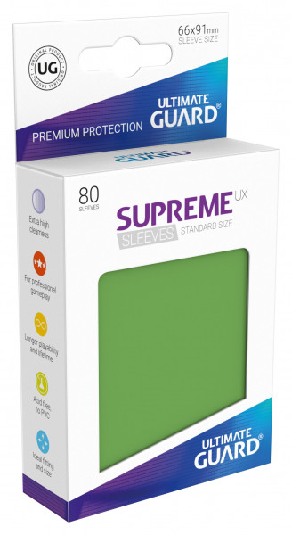Supreme Sleeves Standard Size UX Green (80)