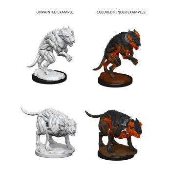 Pathfinder Deep Cuts Unpainted Miniatures: W1 Hell Hounds