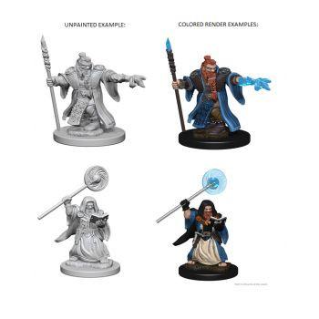 Dungeons & Dragons Nolzur`s Marvelous Unpainted Miniatures: W1 Dwarf Male Wizard