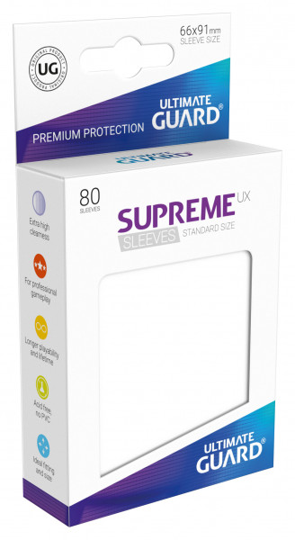 Supreme Sleeves Standard Size UX White (80)