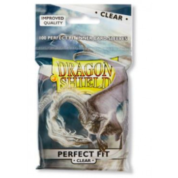 Dragon Shield Card Standard Perfect Fit Sleeves Clear/Clear (100)