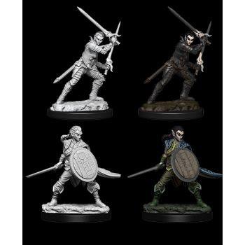 Pathfinder Deep Cuts Unpainted Miniatures: W6 Female Elf Fighter