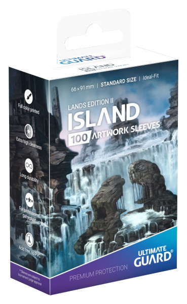 Supreme Sleeves Standard Size Lands Edition Island 2 (100)
