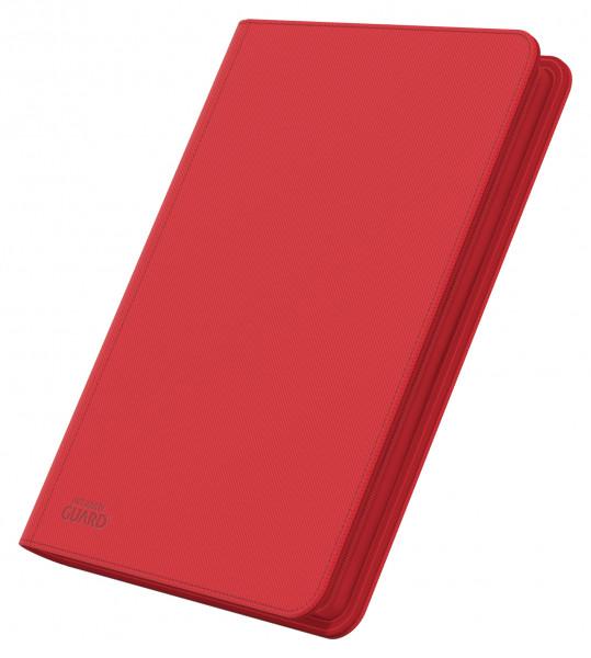 8-Pocket QuadRow ZipFolio XenoSkinTM Red