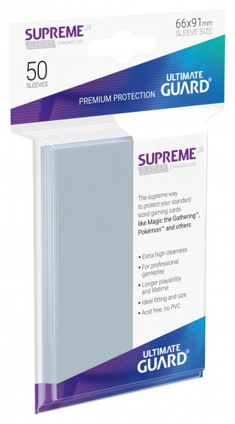 Supreme Sleeves Standard Size Slim UX Transparent (50)