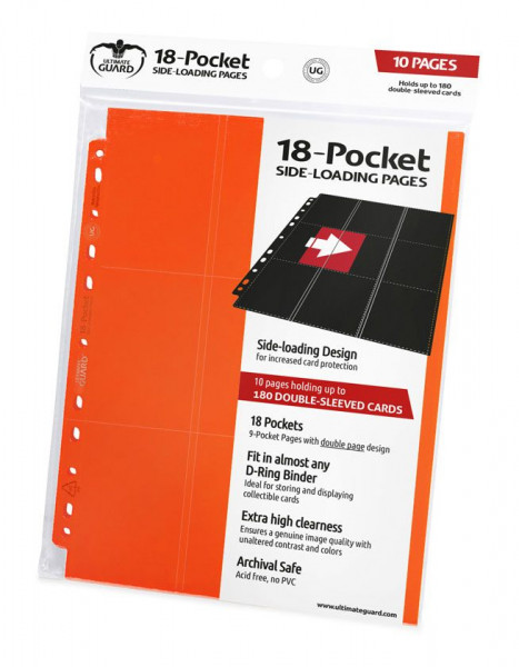 18-Pocket Side-Loading Supreme Pages Standard Size Orange (10)