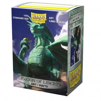 Dragon Shield Art Sleeves Matte - Dragon of Liberty (100)