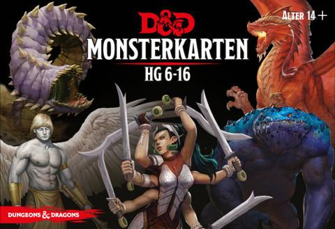 D&D RPG - Monsterkarten: HG 6-16 de.